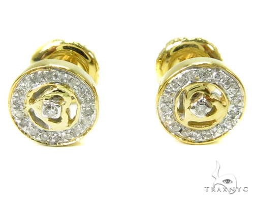 Prong Diamond Earrings 37808 Stone