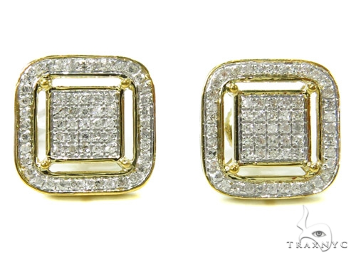 Prong Diamond Earrings 37809 Stone