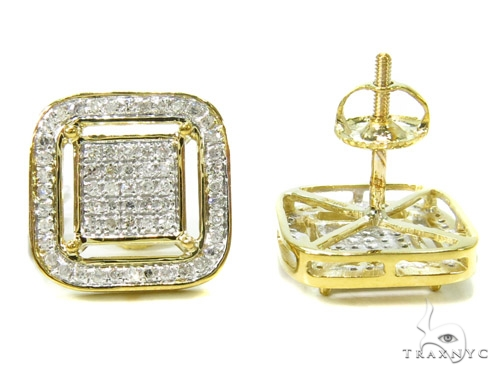 Prong Diamond Earrings 37809 Stone