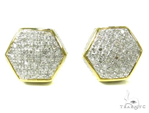 Prong Diamond Earrings 37810 Stone
