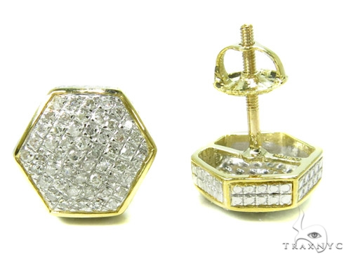 Prong Diamond Earrings 37810 Stone