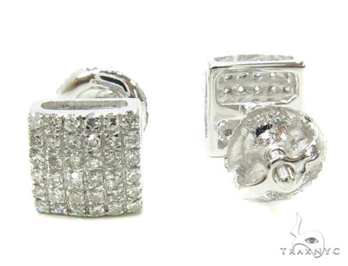 Prong Diamond Earrings 37828 Stone