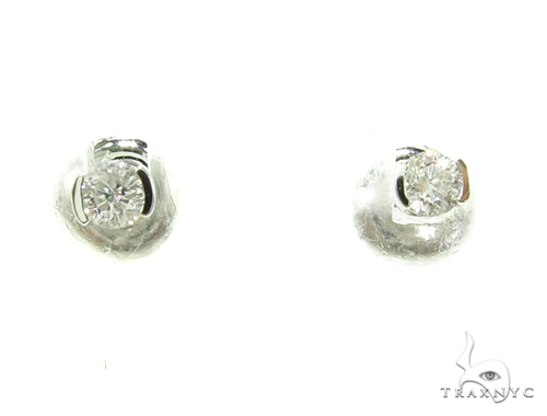 Prong Diamond Earrings 37829 Style