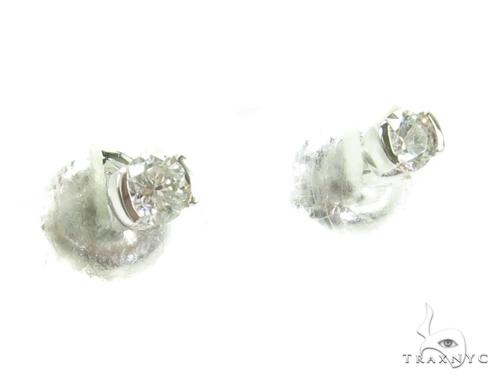 Prong Diamond Earrings 37829 Style