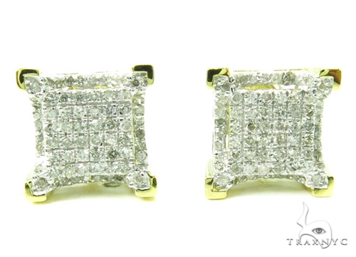 Prong Diamond Earrings 37905 Stone