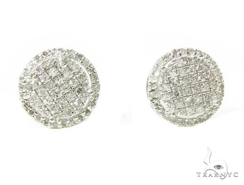 Prong Diamond Earrings 39665 Stone