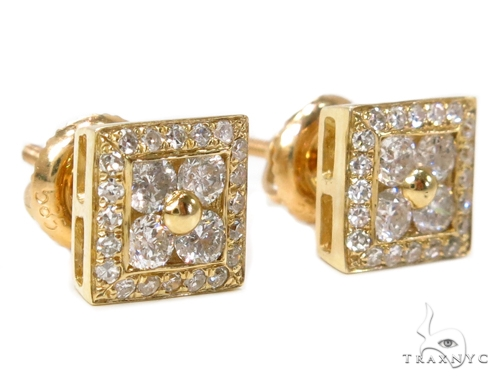 Prong Diamond Earrings 40383 Stone
