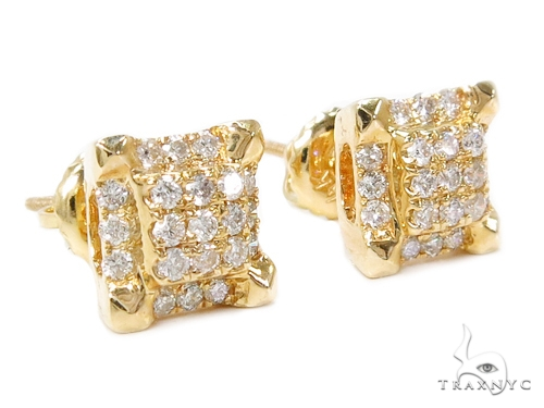 Prong Diamond Earrings 40387 Stone
