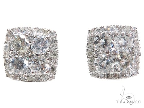 Prong Diamond Earrings 40650 Stone