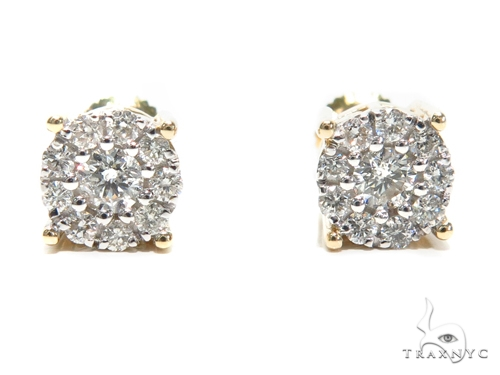 Prong Diamond Earrings 40888 Stone