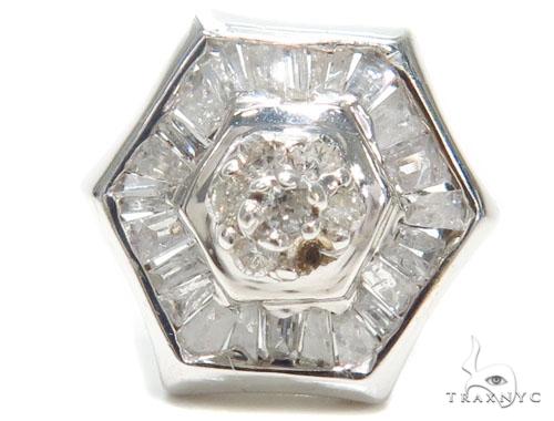 Prong Diamond Earrings 40953 Stone