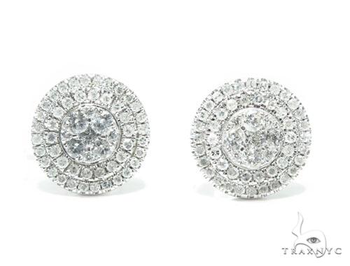 Prong Diamond Earrings 41749 Stone