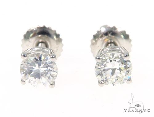 Prong Diamond Earrings 43240 Stone