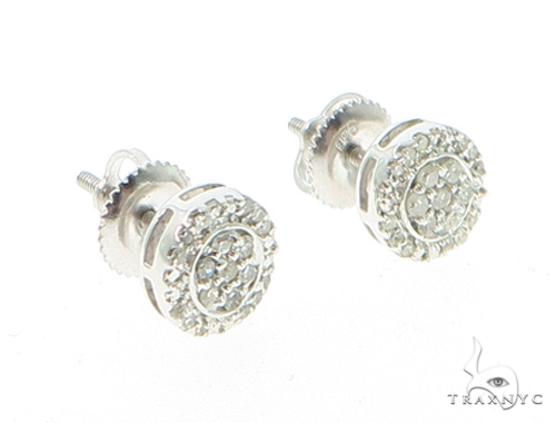 Prong Diamond Earrings 44048 Metal