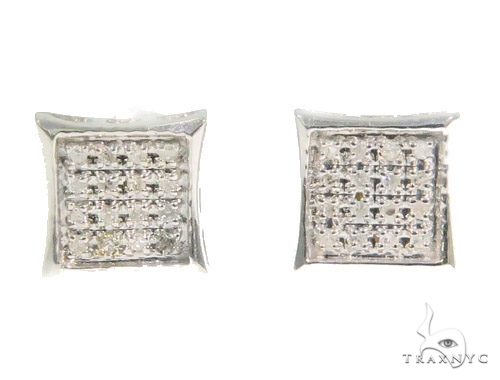 Prong Diamond Earrings 44343 Style
