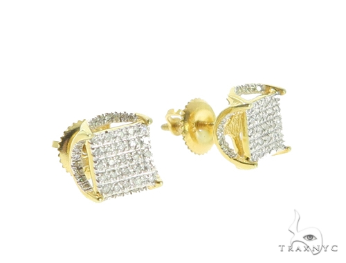 Prong Diamond Earrings 49355 Metal