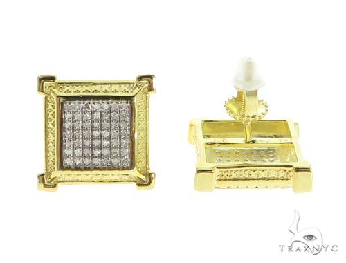Prong Diamond Earrings 49356 Metal