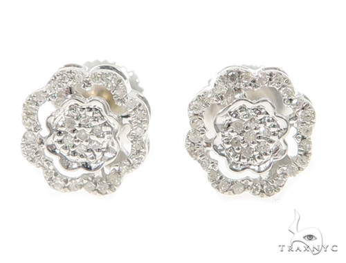 Prong Diamond Earrings 49364 Metal