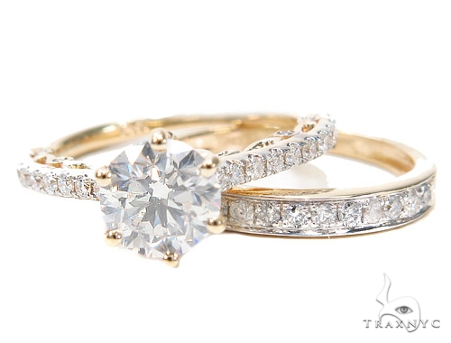 Prong Diamond Engagement Ring Set 42309 Engagement