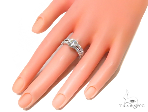 Prong Diamond Engagement Ring Set 44606 Engagement