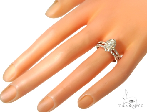 Prong Diamond Engagement Ring Set 48998 Engagement