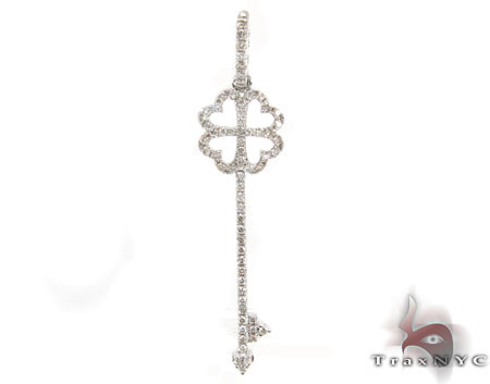 Prong Diamond Four Leaf Clover Pendant 31287 Stone