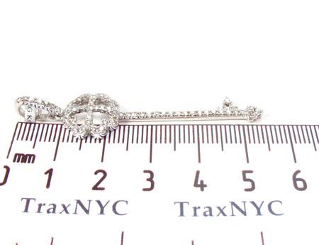 Prong Diamond Four Leaf Clover Pendant 31287 Stone