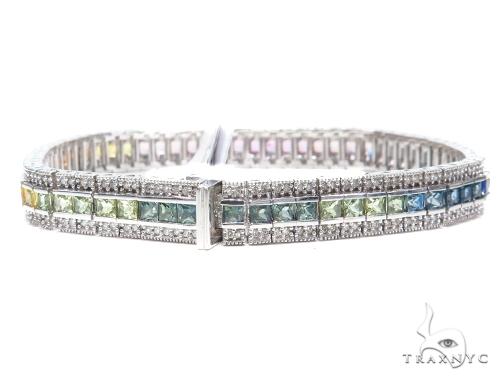 Prong Diamond Gemstone Bracelet 41874 Gemstone & Pearl