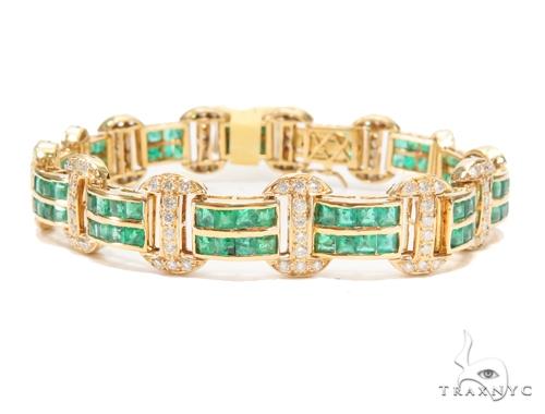 Prong Diamond Gemstone Bracelet 43275 Gemstone & Pearl
