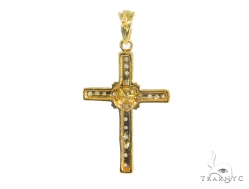 Prong Diamond Holiday special Silver Cross 44313 Silver