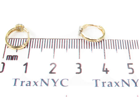 Prong Diamond Hoop Earrings 32061 Style