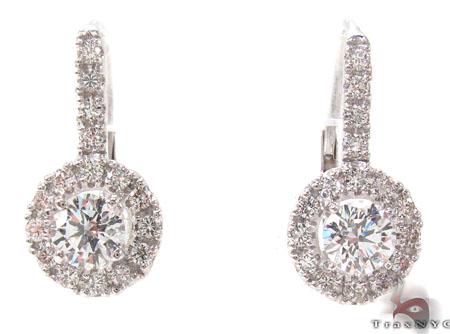 Prong Diamond Hoop Earrings 32725 Style