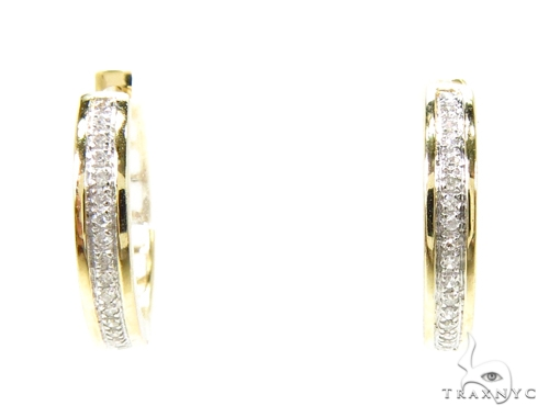 Prong Diamond Hoop Earrings 37633 Style