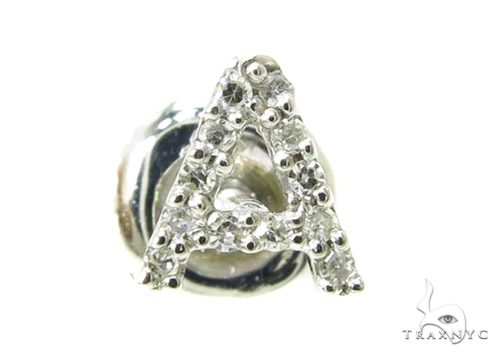 Prong Diamond Initial 'A' Single Earring 37577 Style