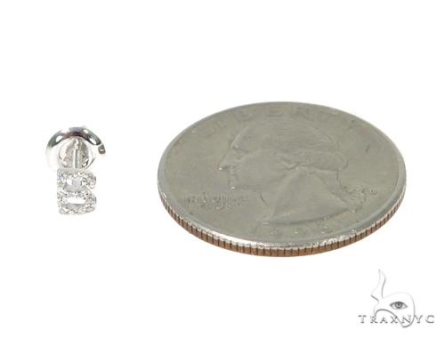Prong Diamond Initial \'B\' Earrings 32631 Stone