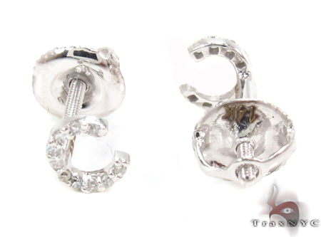 Prong Diamond Initial 'C' Earrings 32632 Stone