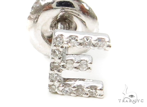Prong Diamond Initial 'E' Single Earring 37576 Style