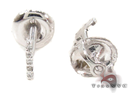 Prong Diamond Initial 'I' Earrings 32637 Stone