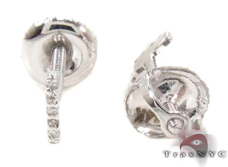 Prong Diamond Initial \'I\' Earrings 32637 Stone