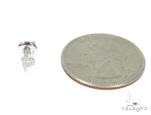 Prong Diamond Initial \'P\' Earrings 32650 Stone