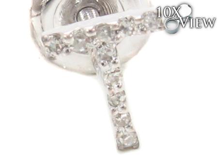Prong Diamond Initial 'T' Earrings 32653 Stone