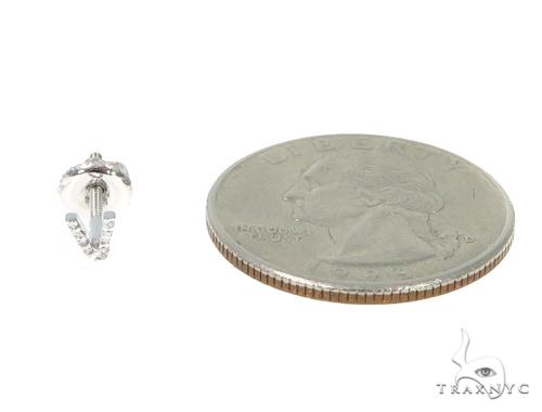 Prong Diamond Initial 'V' Earrings 32654 Stone