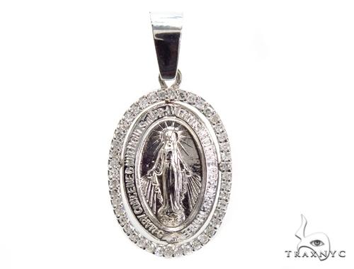 Prong Diamond Jesus Pendant 40826 Stone
