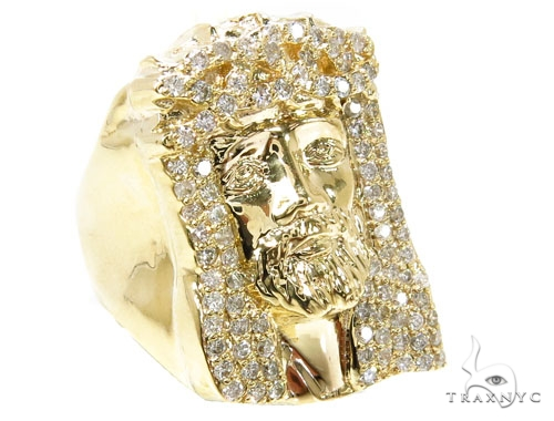 Prong Diamond Jesus Ring 36893 Stone