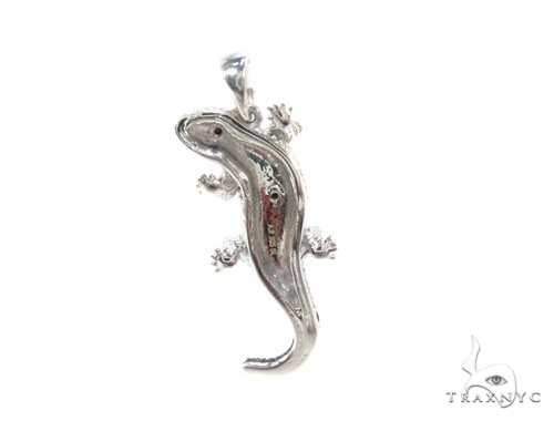 Prong Diamond Lizard Pendant 34994 Metal