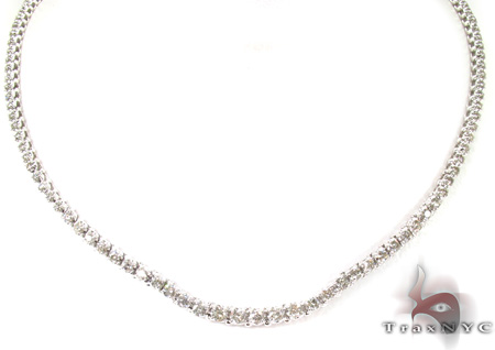 Prong Diamond Necklace 28978 Diamond