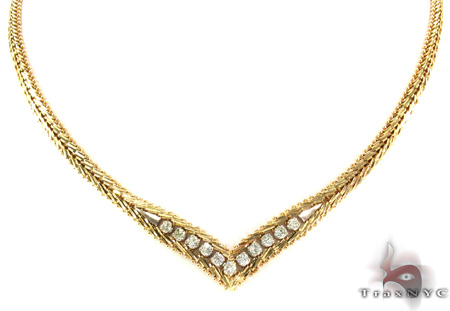 Prong Diamond Necklace 28984 Diamond