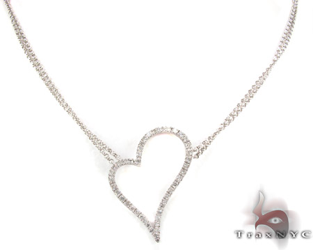 Prong Diamond Necklace 29177 Diamond Necklaces