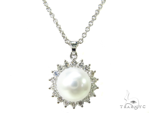 Prong Diamond Pearl Necklace 37699 パールネックレス