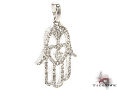 Prong Diamond Pendant 34252 Metal